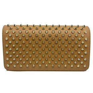 Christian Louboutin Bags - Christian Louboutin Macaron Spike Brown Leather